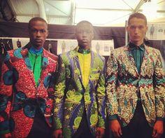 Photo: Ozwald Boateng SS13 Backstage/African Icons/NYFW via Ozwald Boateng