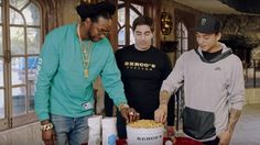 Watch 2 Chainz And Nyjah Houston Eat A $500 Bucket of Popcorn