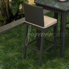 "Barbados 29"" Bar Stool with Cushion"