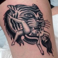 Tattoo old school tiger traditional ink posts 49 Ideas for 2019 Dope Tattoos, Hai Tattoos, Pin Up Tattoos, Trendy Tattoos, Body Art Tattoos, Sleeve Tattoos, Tattoos For Guys, Traditional Tattoo Black And Grey, Traditional Tiger Tattoo