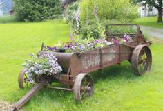 Love it!!  Recycled manure spreader!