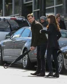 Jamie Dornan as Christian Grey and Dakota Johnson as Anastasia Steele filming Fifty Shades Darker & Freed http://www.everythingjamiedornan.com/gallery/displayimage.php?album=lastup&cat=0&pid=23288#top_display_media