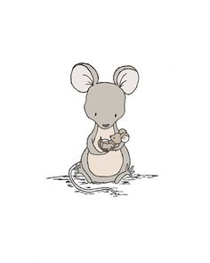 Mouse Nursery Art Mama And Baby By SweetMelodyDesigns