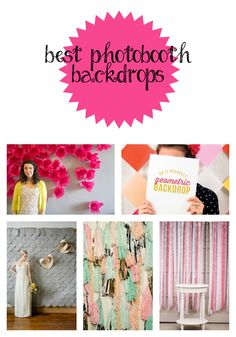 Best Photobooth Backdrops! Seriously, rigging up a simple photobooth is a sure-fire way to make your party a hit!!