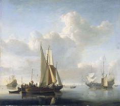 Willem van de Velde de Jonge - Schepen voor de kust