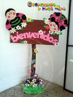 Creaciones y Algo Mas: FIESTA MOTIVO MARIQUITA - PARTY LADYBIRD - FESTA DE JOANINHA Decoration Creche, Class Decoration, School Decorations, Foam Crafts, Diy And Crafts, Crafts For Kids, Arts And Crafts, Paper Crafts, Diy Y Manualidades