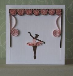 Cute idea for little girl's birthday invites or a little card for a birthday!!!