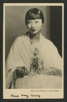 Anna May Wong Postcard Old Hollywood Glamour, Classic Hollywood, Vintage Hollywood, Silent Film Stars, Movie Stars, Anna May, Sound Film, Chinese American, Pulp