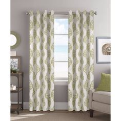 Found it at Wayfair - Matteo Damask Sheer Grommet Single Curtain Panel