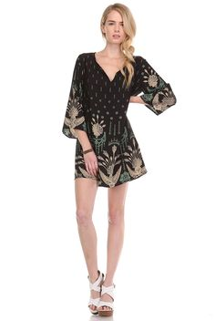 Bird of Paradise Tunic Dress | Honey Punch | S, M, L $37 — Will order Monday, 6/1 Material: Unlisted Made in USA
