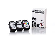 YoYoInk 3 Pack Remanufactured Ink Cartridge Replacement for Canon PG 245XL & CL 246XL (2 Black, 1 Color) Pixma MX492