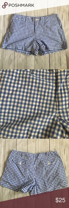 Ralph Lauren Sport Checkered Shorts | Good Condition | 100% Cotton | Blue & White | Ralph Lauren Shorts