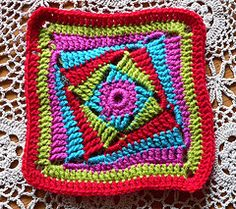 on the huh crochet square