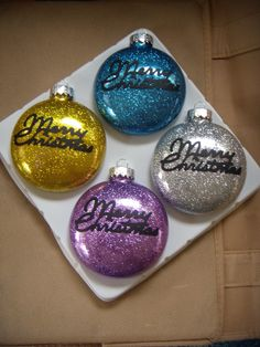 Glitter Ornaments By My Daughter Natalie And Me Clear