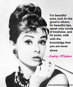 Fabulous Quotes For Women - Audrey Hepburn Quote Im Fabulous, Fabulous Quotes, Great Quotes, Quotes To Live By, Me Quotes, Amazing Quotes, Beautiful Eyes, Beautiful Words, Audrey Hepburn Quotes