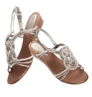 """Knotted Rope Sandal      Reg. $24.99    Micro-wedge with leatherlike upper. Padded heel and sturdy ankle strap. Heel, 1"""" H. Skid-resistant sole. Whole sizes only. Half size, order one size up. Please visit my Avon Web-Site, which is on my profile!"""