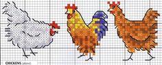 Cross Stitch Chicken Pattern…