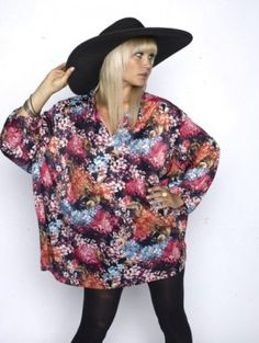 Silk Floral Tent Dress