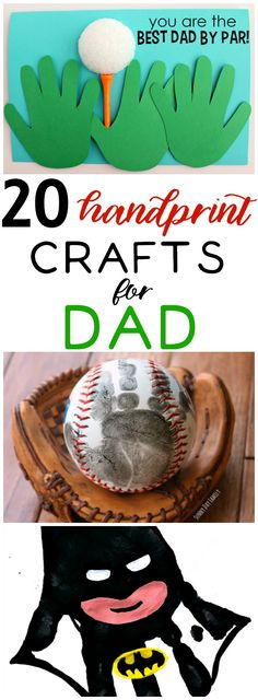 Handprint crafts for Father's Day make great gift.  These personalized ideas will make any dad's day.  Kid friendly crafts and DIY ideas to make Father's Day special this year. #handprints #handprintcrafts #fathersday