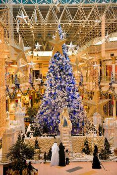 Dubai.  Christmas tree at Wafi Mall shopping center, an up market luxurious mall. http://www.moveindubai.com/
