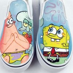 spongebob vans shoes spongebob vans anime hand painted shoes