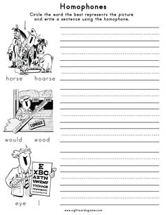 They Re Vs There Vs Their Homophone Worksheet