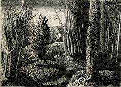 "Graham Sutherland, ""Wood Interior"" (1928)"