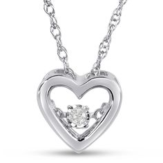 Shimmering Stars Collection Heart Diamond Accent Neck in Sterling Silver