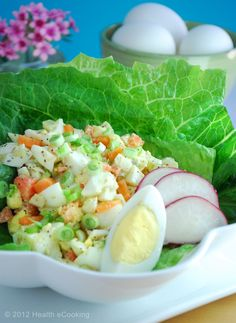 A Healthy and light egg salad recipe.