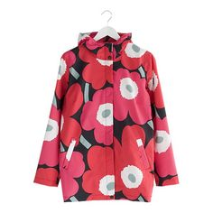 Marimekko Unikko Red and Black Small Rain Jacket  $295.00
