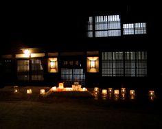 Ice Candle Festival in Narai-juku,  Nagano