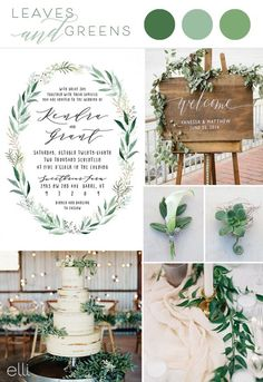 Leaves and Greens Wedding Inspiration