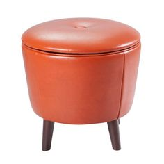OLLIIX - Crosby Storage Ottoman Orange | Madison Park Home