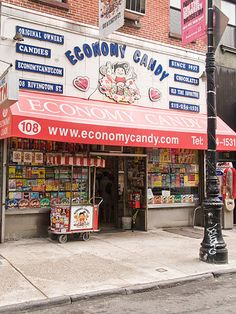 Economy Candy, Lower East Side, NYC- best candy shop ever. All the old school favorites Lower East Side, Alton Brown, Nyc, Manhattan, Ville New York, I Love Ny, Best Candy, City That Never Sleeps, Self Service