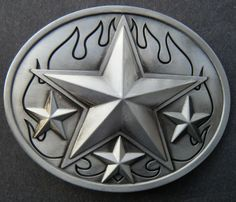 5 POINT STAR WESTERN COWBOY SHERIFF BELT BUCKLE BOUCLE DE CEINTURE ETOILE fd44c1d3c33