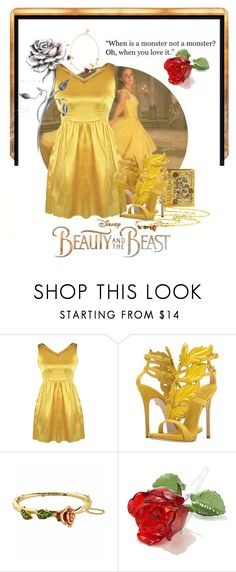 """Beauty&The Beast"" by cinderella-slipper ❤ liked on Polyvore featuring Disney, Giuseppe Zanotti and Christopher Kane"