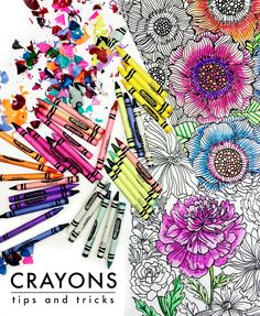 Use q tip and baby oil to blend crayons great DIY tip Art