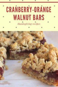 Cranberry-Orange Walnut Bars