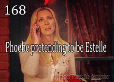 Friends #168 - Phoebe pretending to be Estelle