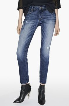 Love these!  Great Saturday jeans. Paige Denim 'Skyline' Ankle Peg Jeans (Jessie Tear and Repair) available at #Nordstrom