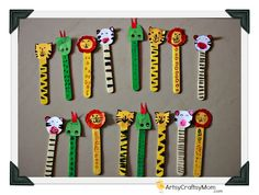 Ice cream Stick Animal Bookmarks is part of Safari Animal crafts - Colorful Ice cream Stick Animal Bookmarks They are perfect for brightening up reading time and you are sure to find a wild animal bookmark that you'll love Kids Crafts, Animal Crafts For Kids, Art For Kids, Easy Crafts, Bible School Crafts, Sunday School Crafts, Bible Crafts, Popsicle Stick Crafts, Craft Stick Crafts