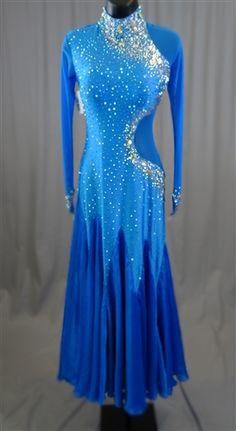 1199bd3692d5 Sexy & Elegant Electric Blue Ballroom Dress Ballroom Costumes, Ballroom  Dance Dresses, Ballroom