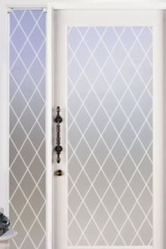 Orleans Leaded Glass Privacy with White Lines