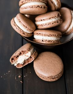 Chocolate Macarons with Coffee Buttercream