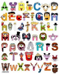 Sesame street letters by Kramsay