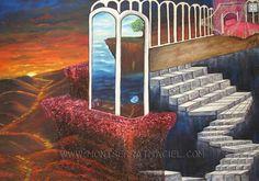 Título:Establecerse en el cambio Obra de Arte en Oleo y Acrílico sobre tela.  Disponibilidad a la venta /For sale montserratmaciel.com