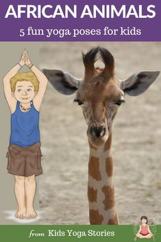 Yoga Poses : ** African Safari Animals ** Pretend to be a giraffe, elephant and zebra. 5 fun and easy yoga poses for kids to try at home while exploring the Savanna. Kids Yoga Poses, Easy Yoga Poses, Yoga For Kids, Animal Activities For Kids, Animals For Kids, African Animals, African Safari, Safari Crafts, Animal Yoga