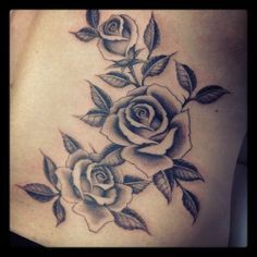 grayscale rose tattoo - Google Search