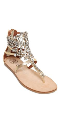 AMAZING Jeffrey Campbell  Jeweled Leather Sandals - WANTED STYLE