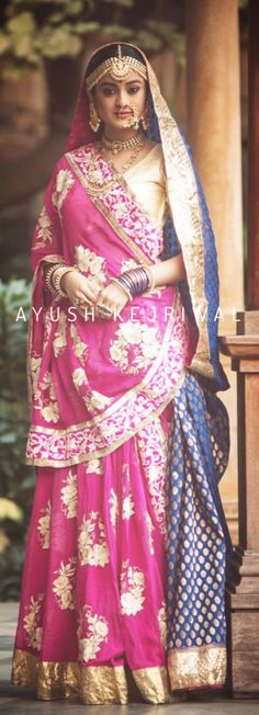 Lengha by Ayush Kejriwal For purchase enquires email me at ayushk@hotmail.co.uk or whats app me on 00447840384707. We ship WORLDWIDE.